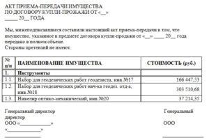 Составляем акт приема-передачи имущества: образец, бланк и подробная инструкция