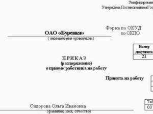 Прием на работу на неполный рабочий день (полставки): заявление, приказ, особенности трудового договора