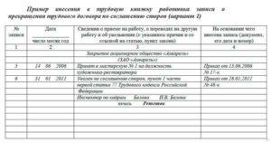 Запись в трудовой книжке об увольнении по соглашению сторон: образец оформления документа, какая фраза будет верна согласно статье 77 ТК РФ при таком расторжении договора?