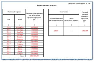 Записка расчет о предоставлении отпуска работнику форма т 60 бланк: а также образец заполнения доступный для скачивания