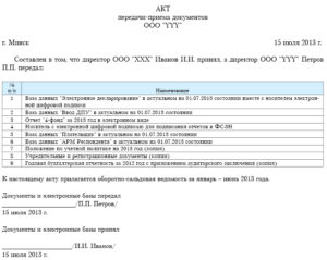 Акт передачи дел при увольнении главного бухгалтера: образец для приема сведений и документов при смене специалиста