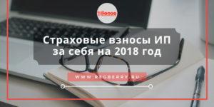 Страховые взносы ИП за себя в 2018 году